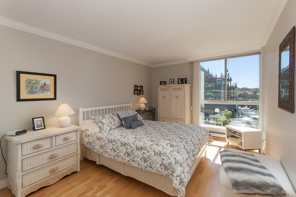 Main Flr Bedroom with water views