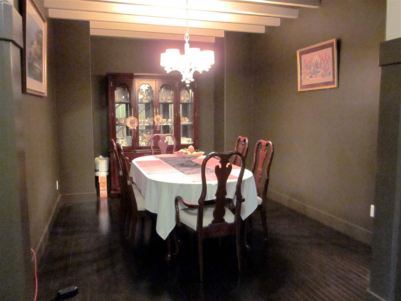 Large formal dining room.