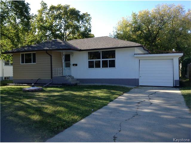 Main Photo: 378 Colvin Avenue in WINNIPEG: North Kildonan Single Family Detached for sale (North East Winnipeg)  : MLS(r) # 1321361