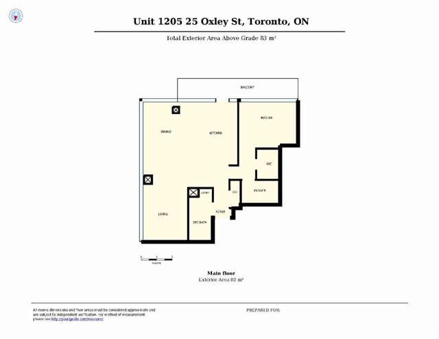 Photo 11: 25 Oxley St Unit #1205 in Toronto: Waterfront Communities C1 Condo for sale (Toronto C01)  : MLS(r) # C3574542