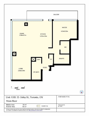 Photo 13: 25 Oxley St Unit #1205 in Toronto: Waterfront Communities C1 Condo for sale (Toronto C01)  : MLS(r) # C3574542