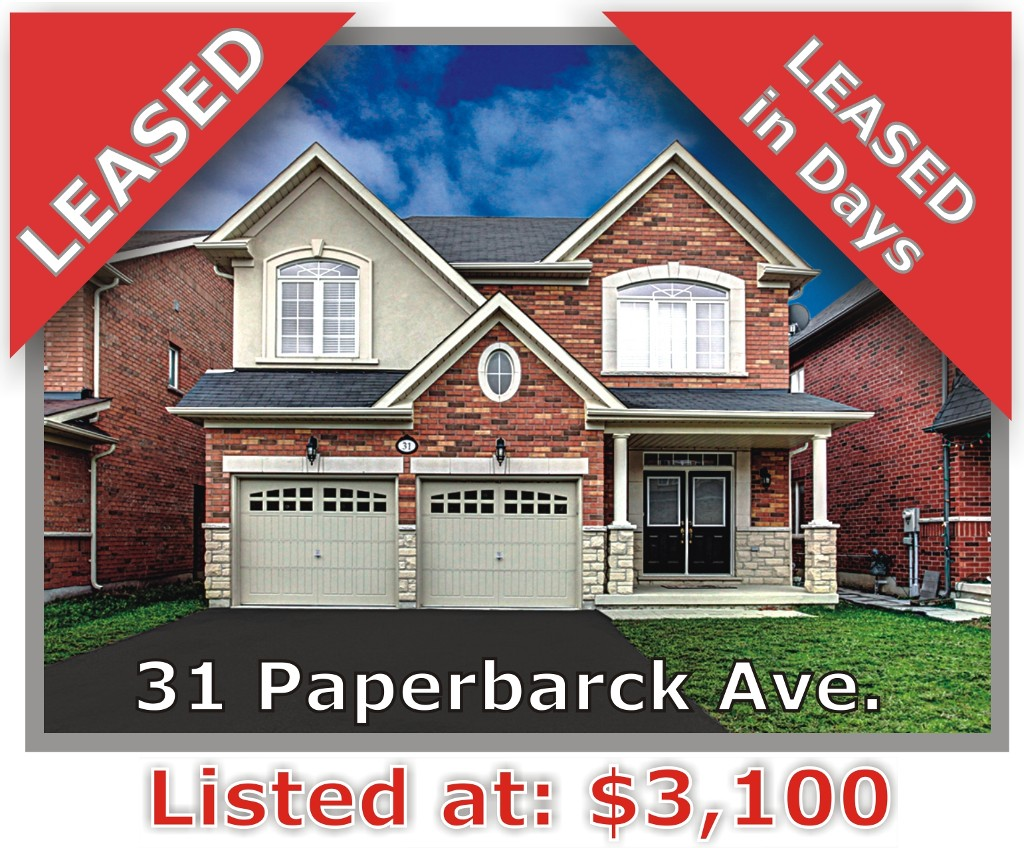 Main Photo: 31 Paperbark Ave in Vaughan: Patterson Freehold for sale