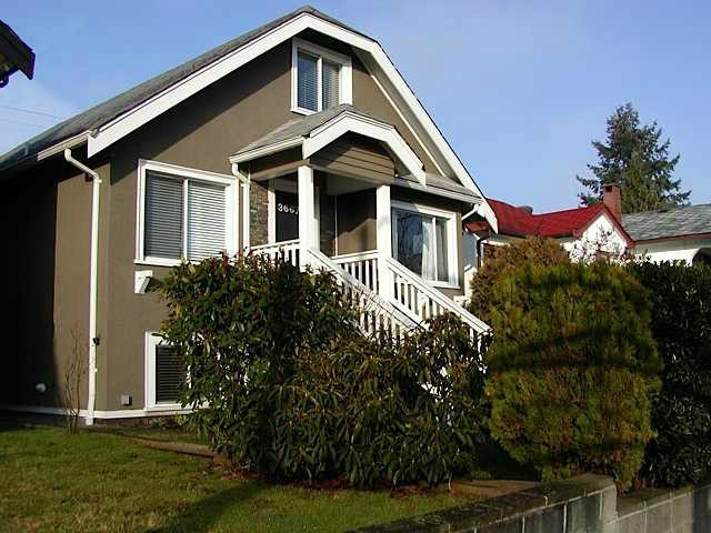 Main Photo: 3667 DUNBAR Street in Vancouver: Dunbar House for sale (Vancouver West)  : MLS® # V1080025