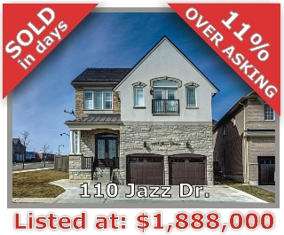 Main Photo: 110 Jazz Drive in Vaughan: Patterson Freehold for sale