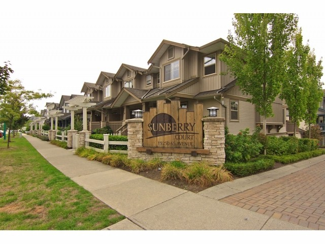 "Main Photo: 6 19250 65 Avenue in Surrey: Clayton Townhouse for sale in ""Sunberry Court"" (Cloverdale)  : MLS(r) # F1321677"