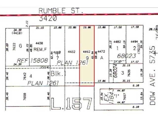 Main Photo: Just Sold: 4462 Rumble | South Slope Building Lot