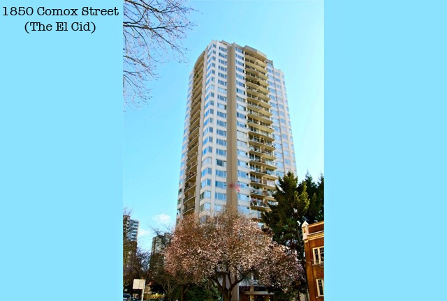 Main Photo: 2103 1850 COMOX STREET in Vancouver: West End VW Condo for sale (Vancouver West)  : MLS® # R2104794
