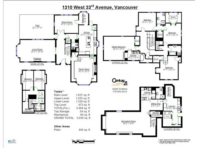 Photo 20: 1310 W 33RD AV in Vancouver: Shaughnessy House for sale (Vancouver West)  : MLS(r) # V1028460