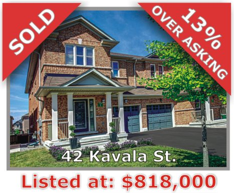 Main Photo: 42 Kavala Street in Vaughan: Patterson Freehold for sale