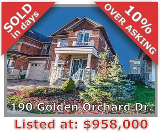Main Photo: 190 Golden Orchard Rd in Vaughan: Patterson Freehold for sale