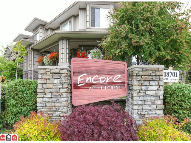 "Main Photo: 22 18701 66TH Avenue in Surrey: Cloverdale BC Townhouse for sale in ""ENCORE"" (Cloverdale)  : MLS® # F1215196"