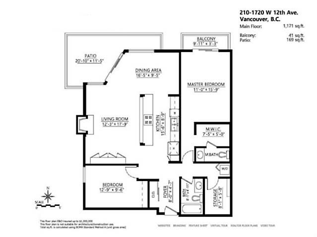 Photo 18: # 210 1720 W 12TH AV in Vancouver: Fairview VW Condo for sale (Vancouver West)  : MLS(r) # V1101253