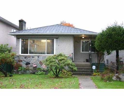 Main Photo: 2881 NANAIMO ST in Vancouver: Grandview VE House for sale (Vancouver East)  : MLS(r) # V560962