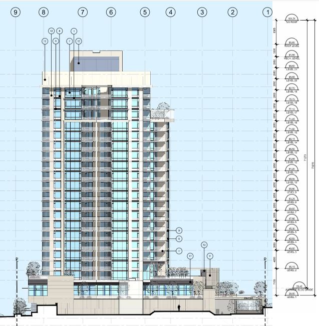 Permit to increase to 23 stories