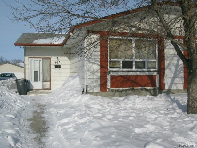 Photo 1: Photos: 471 Adsum Drive in WINNIPEG: Maples / Tyndall Park Single Family Attached for sale (North West Winnipeg)  : MLS®# 1402975