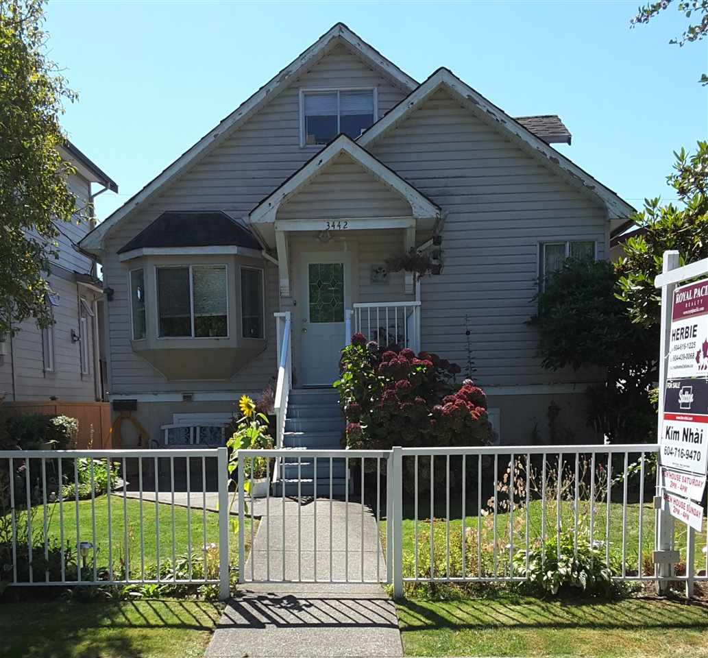 Main Photo: 3442 EUCLID AVENUE in Vancouver: Collingwood VE House for sale (Vancouver East)  : MLS® # R2136472