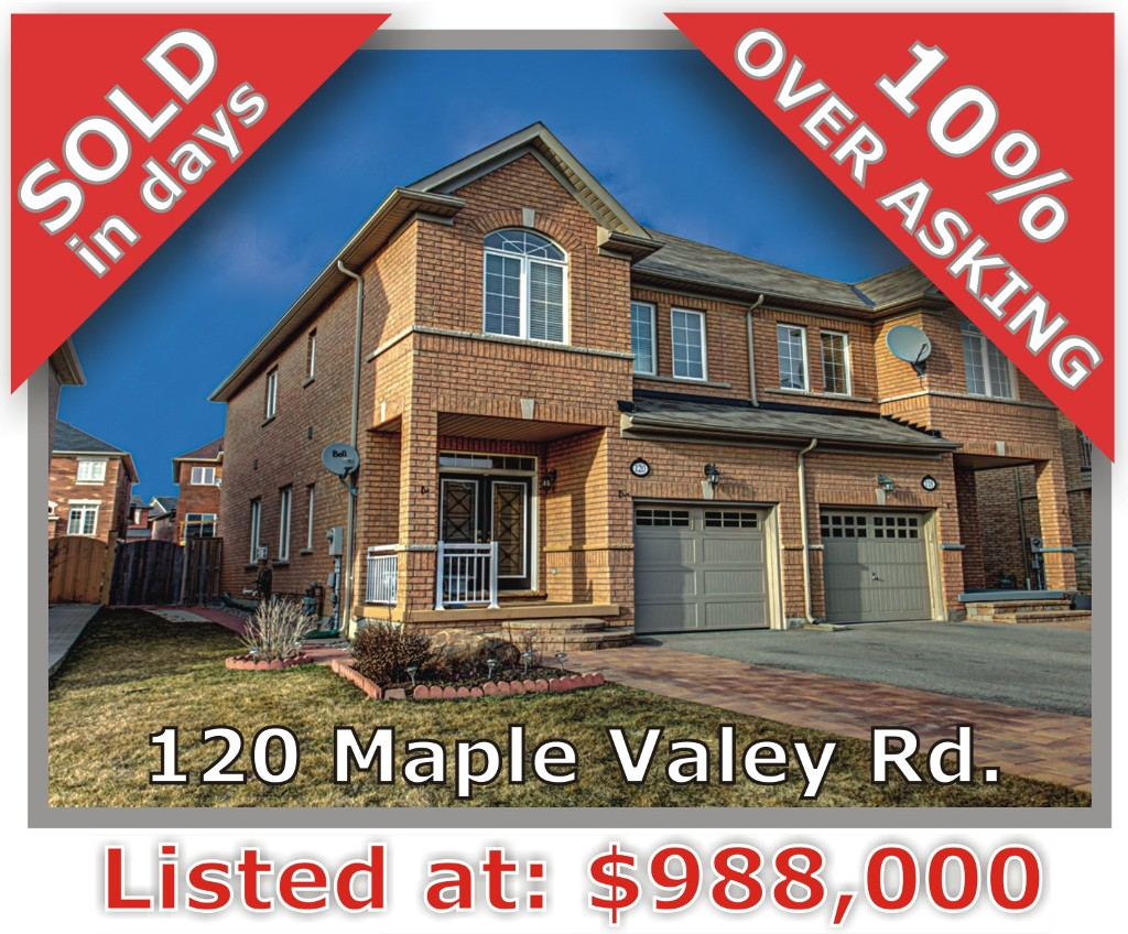Main Photo: 120 Maple Valley Rd in Vaughan: Patterson Freehold for sale