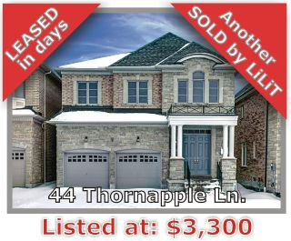 Main Photo: 44 Thornapple Lane in Richmond Hill: Oak Ridges Lake Wilcox Freehold for sale