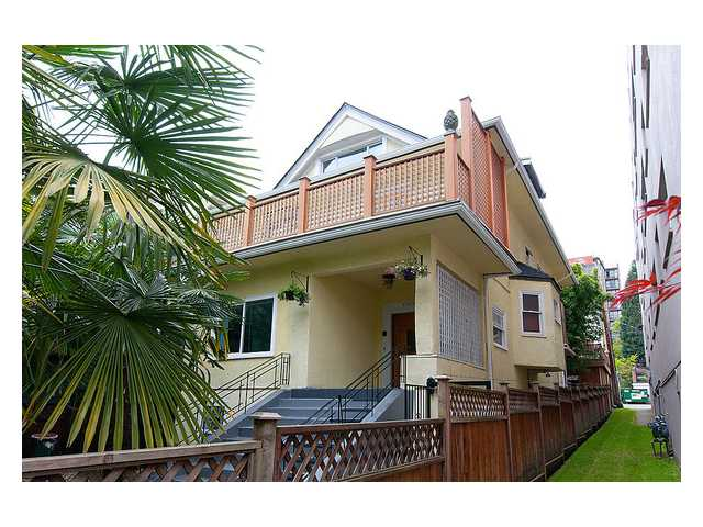 Main Photo: 1109 HARWOOD Street in Vancouver: West End VW House Fourplex for sale (Vancouver West)  : MLS® # V1005139