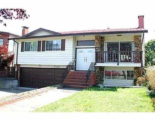 Main Photo: 7490 GLADSTONE ST in Vancouver: Fraserview VE House for sale (Vancouver East)  : MLS® # V592510