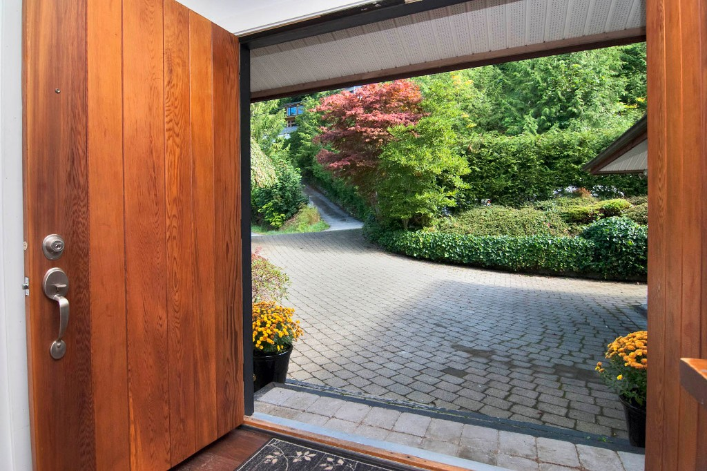 A welcoming front entrance with easy access driveway and parking