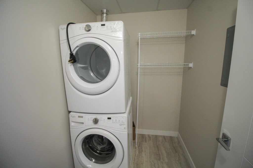 Each unit comes with in suite laundry.