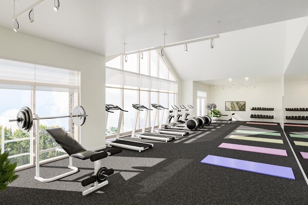 The fitness centre.