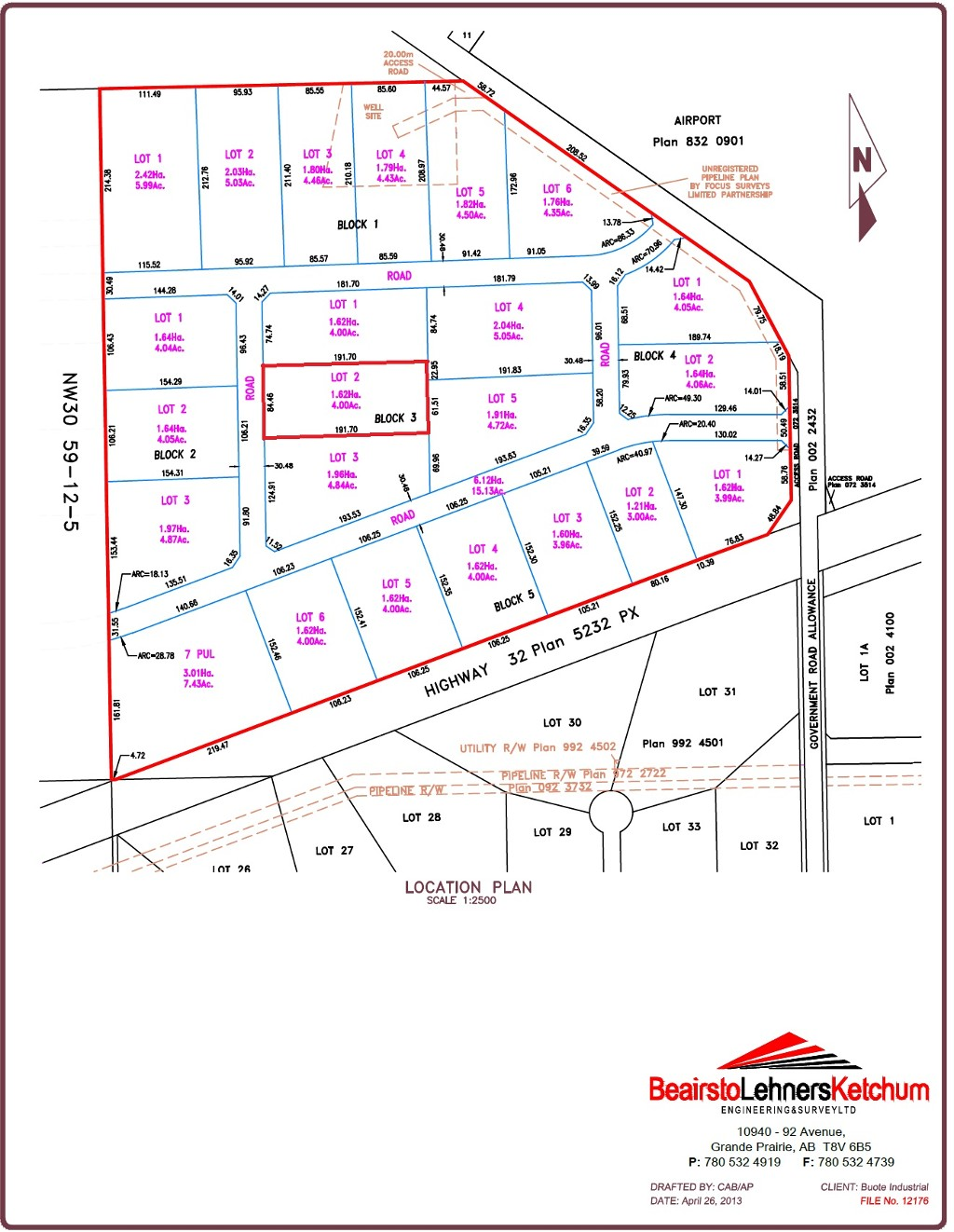 Main Photo: Lot 2 Highway 32 S. in Whitecourt Rural: Vacant Lot for sale : MLS® # 38787
