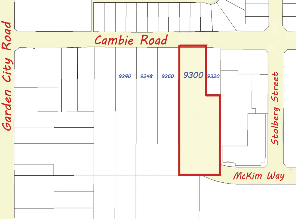 9300 Cambie Road Plot Plan
