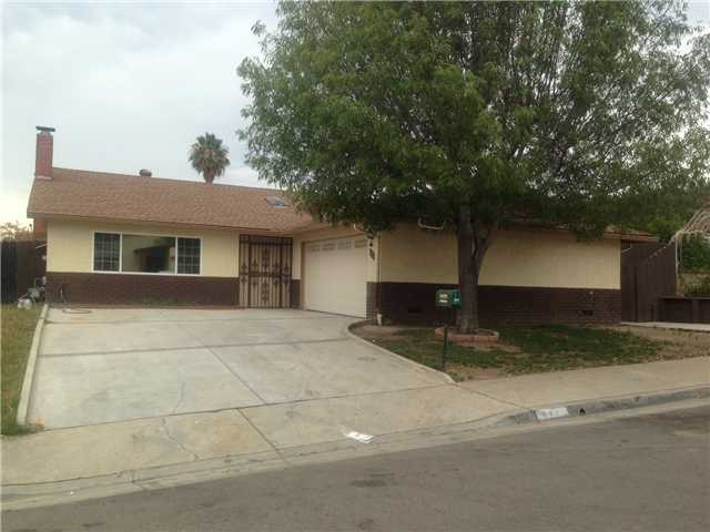 Main Photo: EL CAJON House for sale : 4 bedrooms : 444 Skyview Street