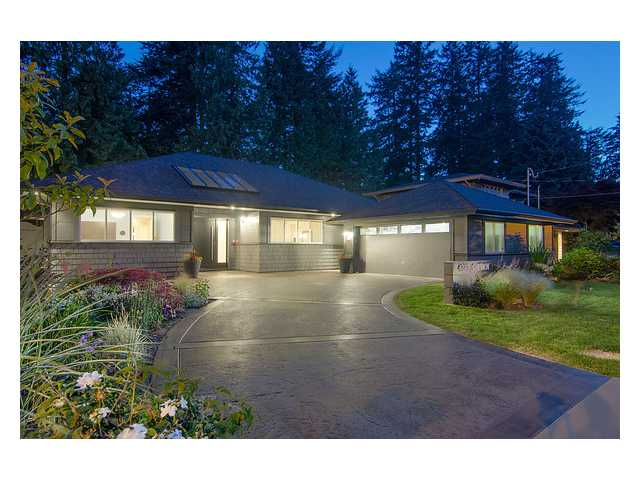 Main Photo: 4373 CHEVIOT Road in North Vancouver: Forest Hills NV House for sale : MLS® # V963473