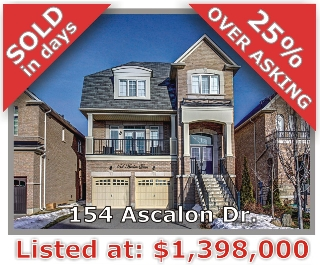 Main Photo: 154 Ascalon Drive in Vaughan: Patterson Freehold for sale