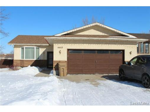 Main Photo: 6603 MAPLE PLACE in Regina: Maple Ridge Single Family Dwelling for sale (Regina Area 01)  : MLS®# 524907