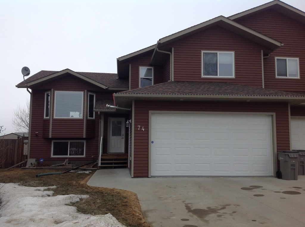 Main Photo: 74 Wellwood Drive in Whitecourt: House Half Duplex for sale : MLS® # 42894