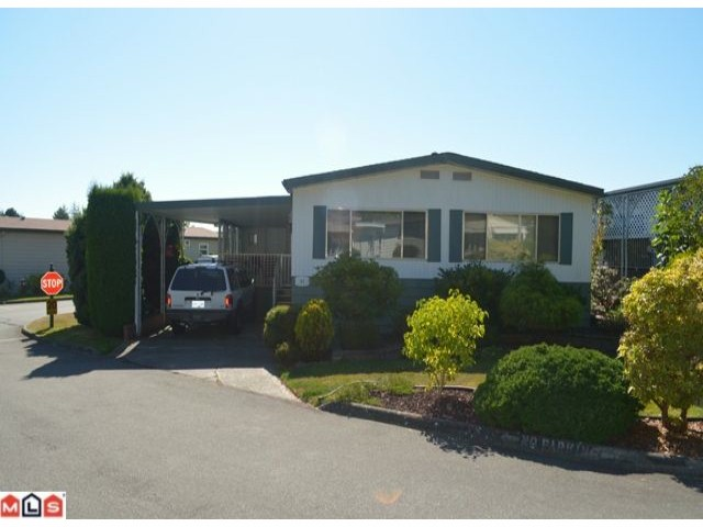 "Main Photo: 64 1640 162ND Street in Surrey: King George Corridor Manufactured Home for sale in ""CHERRY BROOK PARK"" (South Surrey White Rock)  : MLS(r) # F1223930"