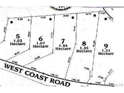 Main Photo: LOT 8 West Coast Road in SOOKE: Sk French Beach Land for sale (Sooke)  : MLS® # 72146