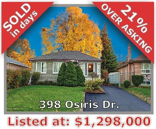 Main Photo: 398 Osiris Drive in Richmond Hill: Crosby Freehold for sale