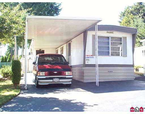 "Main Photo: 46 15820 FRASER HY in Surrey: Fleetwood Tynehead Manufactured Home for sale in ""GRADONTRUE ESTATES"" : MLS®# F2517666"
