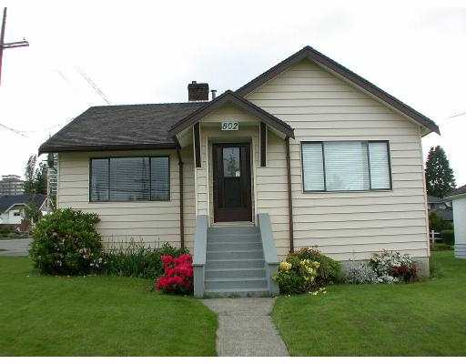 Main Photo: 802 4TH ST in New Westminster: GlenBrooke North House for sale : MLS(r) # V538379