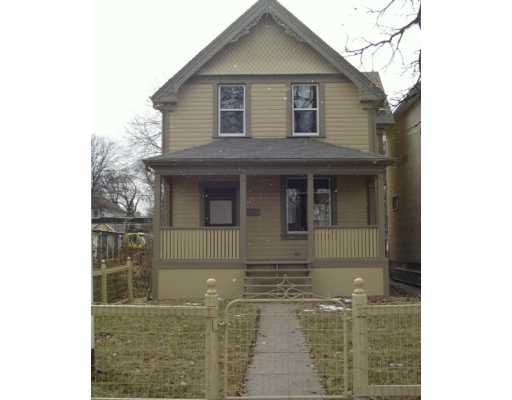 Main Photo: 122 LANSDOWNE Avenue in Winnipeg: North End Single Family Detached for sale (North West Winnipeg)  : MLS(r) # 2619304