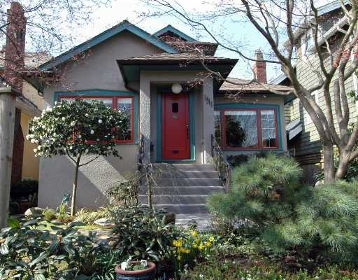 Main Photo: 1311 CYPRESS Street in Vancouver: Kitsilano House for sale (Vancouver West)  : MLS® # V640523