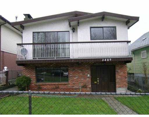 Main Photo: 3489 E 3RD Avenue in Vancouver: Renfrew VE House for sale (Vancouver East)  : MLS® # V683070