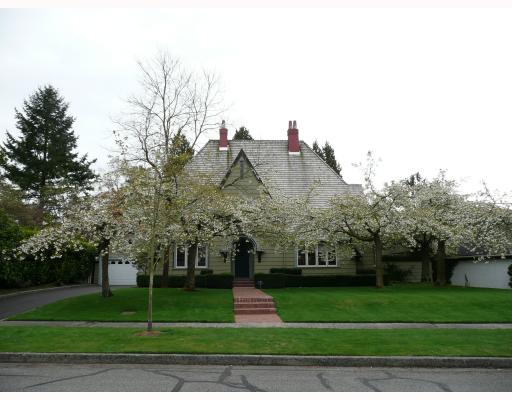 Main Photo: 1636 AVONDALE Avenue in Vancouver: Shaughnessy House for sale (Vancouver West)  : MLS(r) # V711526
