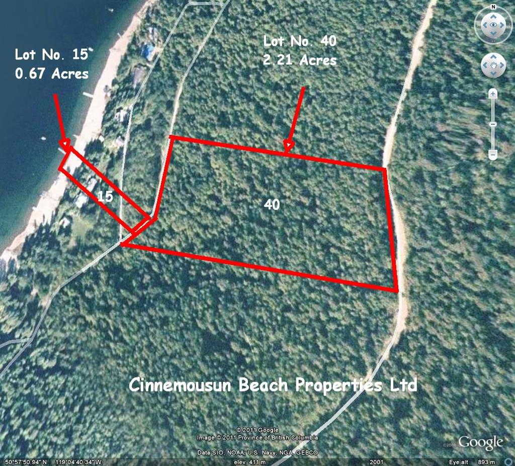 Main Photo: Lot #40; 6741 Eagle Bay Road in Eagle Bay: Semi-Waterfront Vacant Land for sale : MLS(r) # 10079805