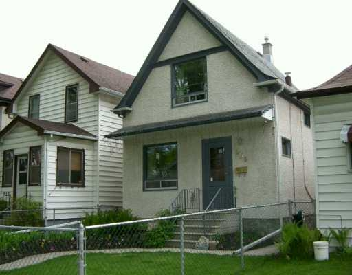 Main Photo: 955 INGERSOLL Street in Winnipeg: West End / Wolseley Single Family Detached for sale (West Winnipeg)  : MLS(r) # 2507384