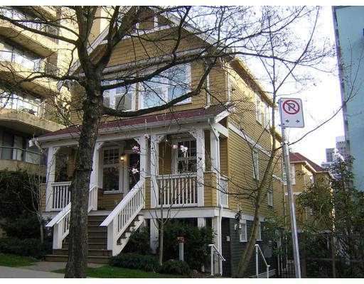 "Main Photo: 1067 BARCLAY Street in Vancouver: West End VW Townhouse for sale in ""BARCLAY WALK"" (Vancouver West)  : MLS® # V637937"