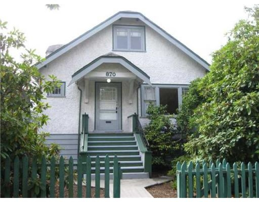 Main Photo: 870 E 19TH AV in Vancouver: Fraser VE House for sale (Vancouver East)  : MLS®# V852023