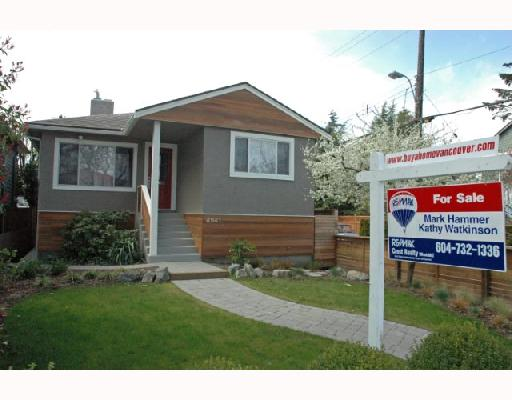 Main Photo: 4941 PRINCE ALBERT Street in Vancouver: Fraser VE House for sale (Vancouver East)  : MLS® # V702108