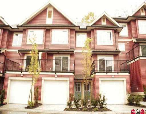 "Main Photo: 36 6635 192ND Street in Surrey: Clayton Townhouse for sale in ""Leafside Lane"" (Cloverdale)  : MLS® # F2726999"