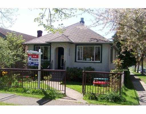 Main Photo: 4507 JAMES Street in Vancouver: Main House for sale (Vancouver East)  : MLS®# V644356